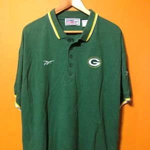 GREEN BAY PACKERS MENS VINTAGE EMBROIDERED XL POLO